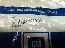 84 85 86 87 88 89 90 Corvette Gas Door Emblem NEW GM 14060260 NOS C4