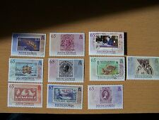SOUTH GEORGIA,2010,STAMP CENT.10 VALS COMPLETE F/USED,CAT £36,EXCELLENT.