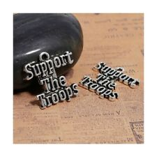 8 Word Marines Military Charms Antique Silver 24 x 5 mm US Seller 460