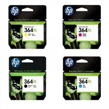 Genuine Original HP 364XL Black, Yellow, Cyan Magenta  Ink Cartridges Set 4-Pack
