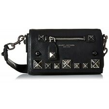 Marc Jacobs Recruit Chipped Studs Crossbody Bag - Black