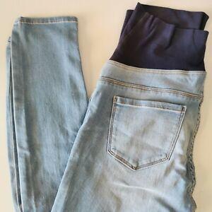 Ladies 8 Target Maternity Skinny Jeans Light Blue Jean