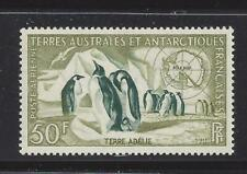 FRENCH SOUTHERN & ANTARCTIC TERR - C1 -  MVLH - 1956 - EMPEROR PENGUINS & MAP