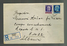 1942 Cetinje Yugoslavia Cover to Reporto ANI Albania Concentration Camp