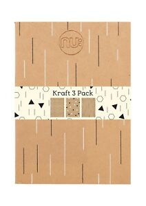 Nu Kraft Foiled Notebook Pack of 3
