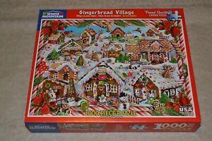 "1000 PC Jigsaw Puzzle, White Mountain Gingerbread Village #1128, 24"" x 30"""
