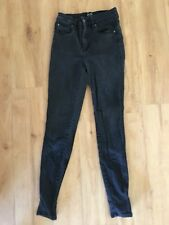 Ladies BARDOT Skinny Jeans Size 10 Faded Black High Waisted