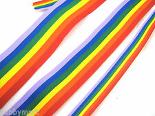Gay Pride Rainbow Ribbon 10mm /25mm /35mm Double Side Grosgrain Gay Pride Ribbon