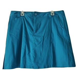 White Stag Skort Womens Size 16 Teal Blue Green Pockets Skirt With Shorts Plus