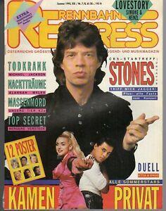 RENNBAHN EXPRESS Österreich 7/8 / 1990 / STONES, JACKO, GERHARD BERGER, EAV,TIN