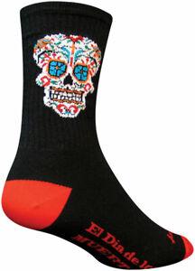 SockGuy Crew El Dia Socks - 6 inch, Black, Large/X-Large