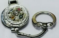 Vintage Silver Rhinestone Pearl Finger Nail File Nail Clipper Keychain