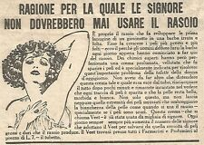 W4313 Crema depilatoria VEET - Pubblicità del 1930 - Vintage advertising