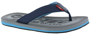 Hi-Tec Lightweight Flip Flops Mens Summer Toe Post Shadow Thong Navy Sandals