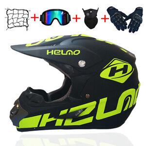 4 Gifts Motocross Fox Helmet Motorcycle Off-road Atv Racing Full Face Helmet
