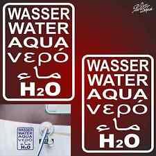 2x 15cm Aufkleber OFF ROAD Autoaufkleber Wohnmobile Wasser 4x4 Gasoil Tank H2O