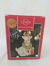 Lenox Christmas Ornament Reindeer With Blinking Nose
