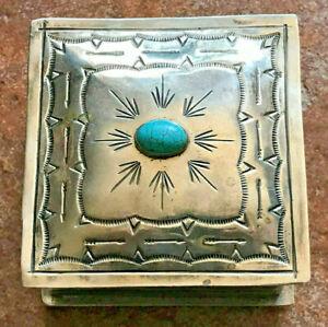 "J. Alexander Nickel Silver Trinket Box 4"" x 4"""