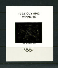 Guyana1992 Olympics/Soccer Michel BL 224-25 WINNERS OVERPRINT SPECIMEN Sheets