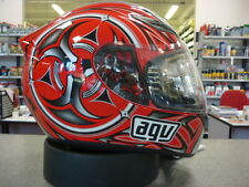 CASCO INTEGRALE AGV K-4 VYRUS RED/SILVER S MOTORCYCLE HELMET CASQUE HELM
