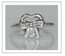 Sterling Silver Heart, Bow Ring Sizes 6, 7  S746
