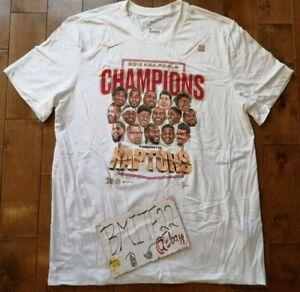 Toronto Raptors 2019 NBA Championship Celebration Roster Tee T-Shirt Men XL