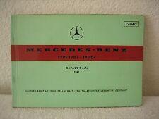 MERCEDES-BENZ 190C 190DD ILLUSTRATED PARTS CATALOG-A 1961