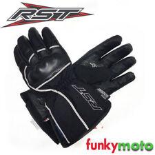 Gants blancs RST en cuir pour motocyclette