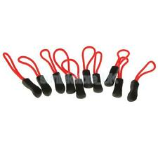 10PCS New Zip Tags Cord Pulls Zipper Extension for Luggage Coat Bag - Red