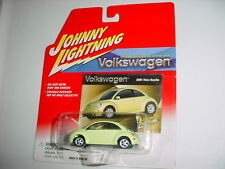 JOHNNY LIGHTNING VOLKSWAGEN 2001 NEW BEETLE PALE GREEN MIP FREE USA SHIPPING