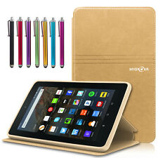 """Folio Magnetic Leather Cover Case For Amazon Kindle Fire 7"""" 5th 7th Generation"""