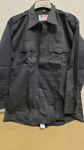 FLYING CROSS Mens Black Button Up L/S Shirt VARIOUS SIZES Style 35R5886