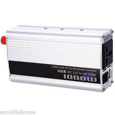 1000W Power Inverter DC 12V AC 220V Car Converter Electronic USB Port.