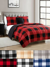 Buffalo Plaid Reversible Down Alternative Comforter Set