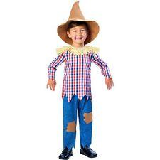 Boys Scarecrow Costume Fairytale Fancy Dress Kids Book Day Wizard of Oz 3-4yrs