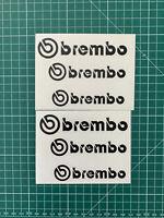 Stickers brembo lot de 6 autocollants étrier de frein voiture couleur au choix