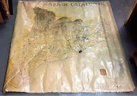 CARTE DE ROUTES DE LA CATALOGNE. GOUVERNEMENT CATALAN. ESPAGNE. 1936.