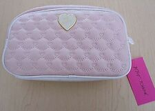 NWT Betsey Johnson $48 Cosmetic Loaf Bag Pouch Pale Blush Pink
