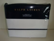 Ralph Lauren Palmer Percale Twin Duvet Cover Nip Polo Navy Blue White Cotton