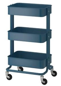 """Ikea RASKOG Utility Cart, Blue, 13 3/4 x 17 3/4 x 30 3/4 """" 301.017.89"""