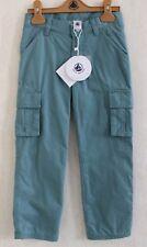 Neuf : Pantalon PETIT BATEAU 5 ans vert de gris doublé baggy poches pour garçon