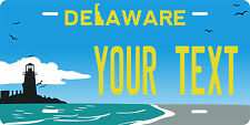 Delaware Light house Plates Tag Personalized Auto Car Custom VEHICLE OR MOPED