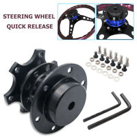 Universal Black Steering Wheel Snap Off Quick Release Hub Car adapter Boss Kit
