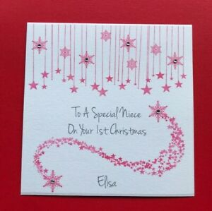 1st First Christmas card - Granddaughter Niece Daughter Goddaughter Baby Girl