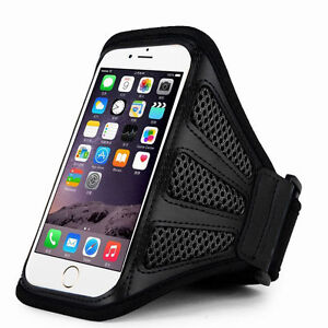"""iPhone 6 4.7"""" Black Mesh Running, Jogging, Cycling Armband Mobile Phone Cover"""