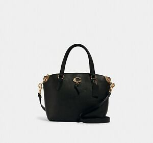 NWT Coach Remi Satchel With Signature Canvas Detail
