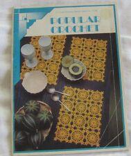 Retro Coats Book 1136 Popular Crochet Circa 1970s