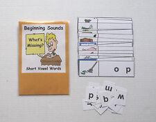 Teacher Made Literacy Center Learning Resource Game Beginning Sound Strips