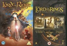 Lord of the Rings Original Animated Version + Peter Jackson Trilogy DVD Set