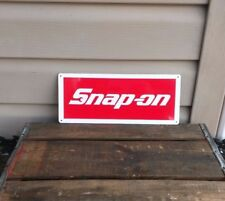 SNAP ON RACING TOOL Mechanic Body Shop Logo Garage METAL SIGN 5x12 50067